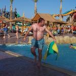 Fat bloke at the aqua park. ( yes i am the fat bloke)