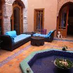 riad zarka - courtyard