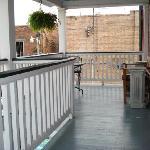 Cute porch outside loft