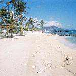view of St. Kitt's from Nisbet beach. Soooo Peaceful
