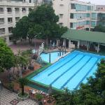 View of pool & gym