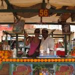 fresh orange juice Jemaa el-Fna