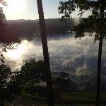2nd Photo of Mist on the Lake, viewed from the Seabiscuit Room