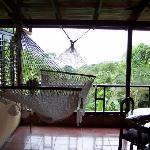 Our verandah - I miss that hammock!