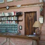 Welcome desk in main house