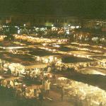 djemmna-el-fna-platz bei nacht, essensstände