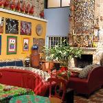 Living room of Casa de Las Flores