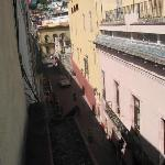View from first room into callejon or alley
