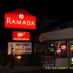 Cafe - in Ramada Inn - Park in back of hotel lot