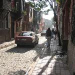 one of the streets in neighbourhood of grand yavuz hotel with the old typical houses