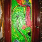 Carved mahogany door cabin #2