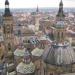 Vista desde las Torres de la Basica del Pilar, Zaragoza