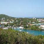 View of Cruz Bay from Road