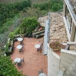 Terrace of Hotel Gattapone