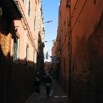 Assia' street - narrow and dark, but all the streets in the souks look like this