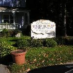the sign out front