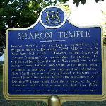 Sharon Temple historic plaque