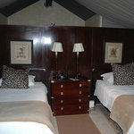 Inside tented accommodation at Falaza