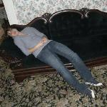 My gf - on the murder couch - also dead