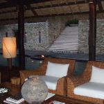 outdoor living room at Tejasara (main quarters)