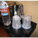 Motel 6 plastic drinking glasses