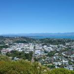 Looking down on Nelson from the centre of NZ.