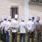 Chefs and sous chefs in conference