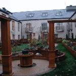 Rooftop garden, nice in December but very charming in summer I am sure. My room had a patio.