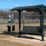 Arlington Dog Park - benches are available