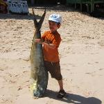 Brandon Day Canada with his fish caught on his 2nd year fishing in Punta Cana, our biggest regul