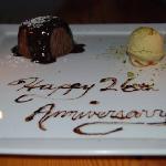 Chocolate Molten Cake with Pistachio ice cream