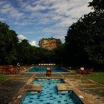 The Sigiriya Rock from the swimming pool