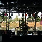 The view through the bar/resturant to the river.