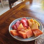 fruit in the breakfast