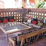 Thatched Roof Cabana Seating