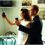 Toasts in the breakfast room after our nuptials