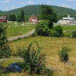 Shaker village from the trail's overlook