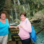 mum and sister @ kursunlu waterfalls