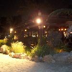 Captain's Bar at Jebel Ali Hotel's beach where Deborah had the evening dinner!