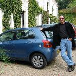 Me, w/ rental car in front of Chateau