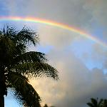 Rainbow from veranda