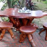 Tea area in gardens