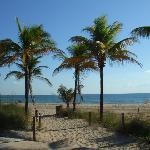 beach behind the resort