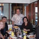 Us with Denis at Breakfast