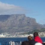 Table Mountain from the Robben Island ferry