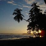Another sunset at Playa Negra, Cahuita, Costa Rica, right outside Brigette's cabinas