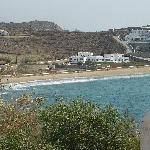 Vue générale en venant de Mykonos