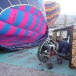set up of hot air ballon