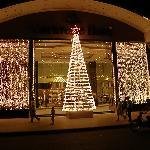 Hotel entrance in December
