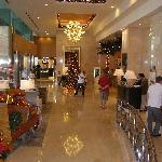 Hotel foyer in December